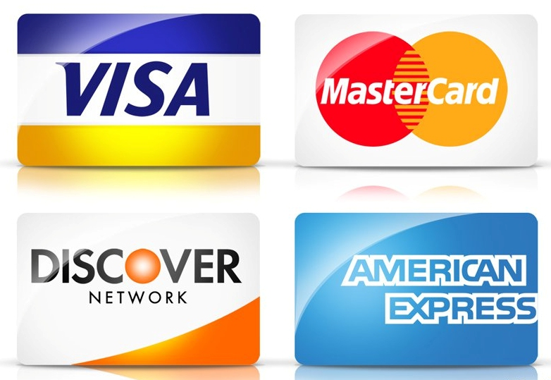 Major Credit Card Accepted - VISA, Mastercard, Discover Network, American Express