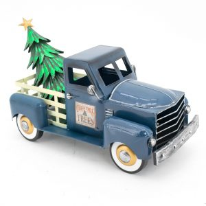 Small Blue Truck with Christmas Tree