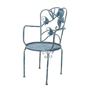Coastal Iron Sea Creature Armchair