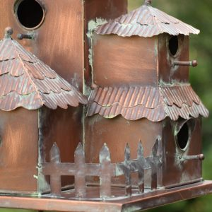 "Country Style Iron Birdhouse Stake ""Plumsteadville"""