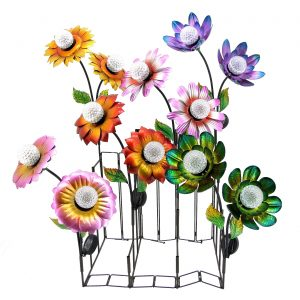 Double Flower Solar Garden Stake