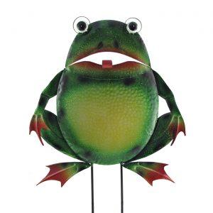Large Iron Frog Garden Flat Stake