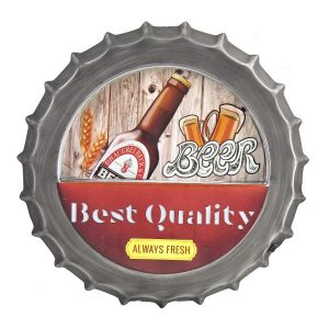 Beer - Retro Style Iron Bottle Cap Wall Decor