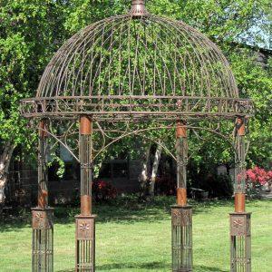 Valiko Round Iron Garden Gazebo