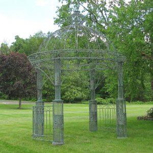 """""""Zina"""" Large Round Iron Garden Gazebo"""