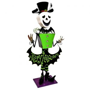 "Iron Halloween Skeleton Figurine ""Becca"""
