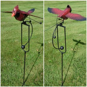 Iron Red Cardinal Swing Stake