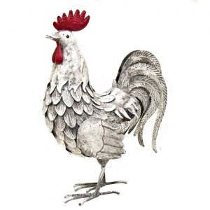 White Iron Rooster