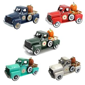 Small Harvest Pickup Truck with Pumpkins in 5 Assorted Colors