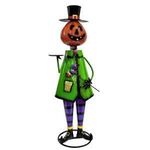 "Iron Halloween Figurine ""Pumpkin Man"""