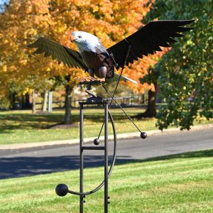 "Large Flying Eagle Iron Rocking Stake ""Aquila"""