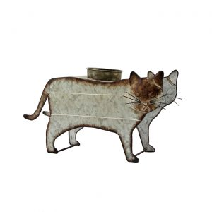 Galvanized Farm Animal Planter - Cat