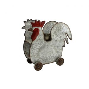 Galvanized Farm Animal Planter - Rooster