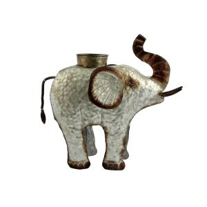 Galvanized Animal Planter - Elephant