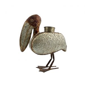 Galvanized Animal Planter - Pelican