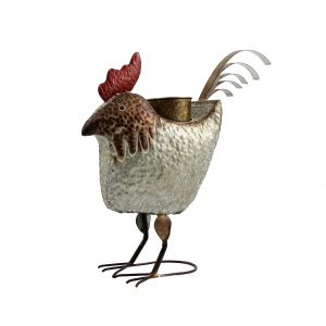 Galvanized Animal Planter - Rooster