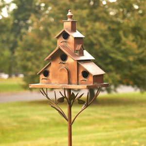 "Church Style Iron Birdhouse Stake ""Dublin"""
