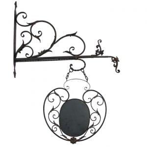 """Liliya"" Hanging Sign Holder and Post"