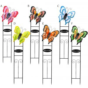 Large Butterfly Welcome Stake in 6 Assorted Colors