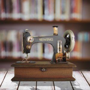 Vintage Style 1920's Decorative Sewing Machine Box