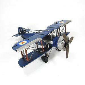 Small Metal Model Biplane