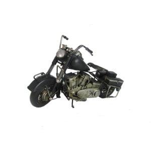 Metal Motorcycle Figurine in Black