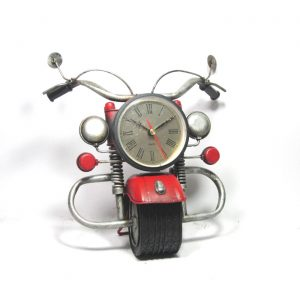 Iron Motorcycle Tabletop Clock