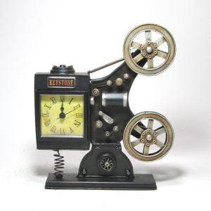 Old School Film Projector Tabletop Clock