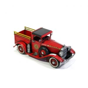 "11.5"" Antique Style Model American Fire Truck"