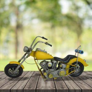 Vintage Style Yellow Model Chopper - Main Image