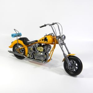 Yellow Model Chopper with Flames