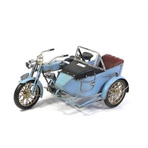 Retro Model Motorcycle with Side Cart