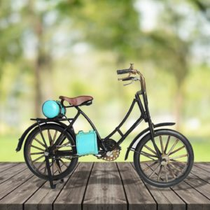 Decorative Metal Model Bicycle in Baby Blue