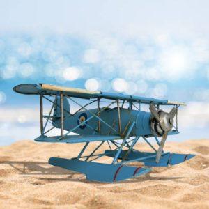 Decorative Baby Blue Model Floatplane