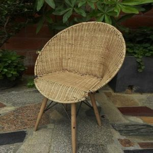 Lesera Round Natural Rattan Chair