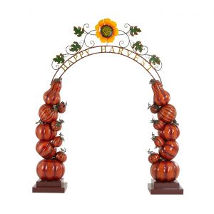 "Large ""Happy Harvest"" Arch With Pumpkins"