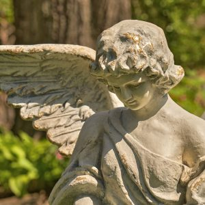 "45"" Tall Standing Magnesium Angel Statue With Open Wings ""Ariel"""