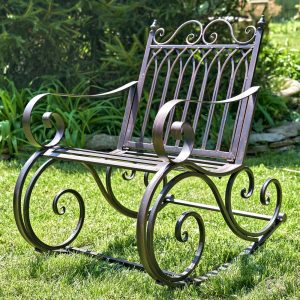 "Iron Rocking Garden Arm Chair ""Tatiana"""
