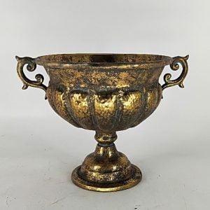 Round Iron Urn Planter