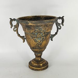 Chalice Shaped Iron Urn