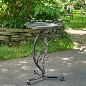 "Galvanized birdbath with the stand ""New Britain"""