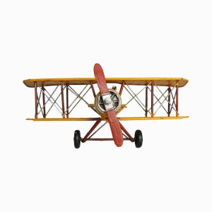 WWI Inspired Metal Model Biplane