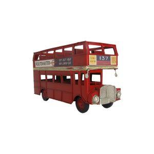 Red London Transport Bus Iron Tabletop Decor