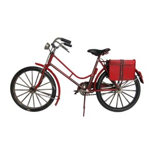 Decorative Metal Model Bicycle in Red