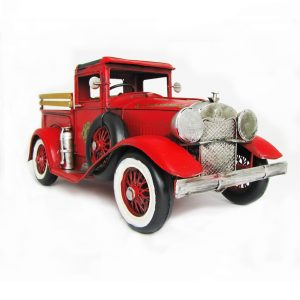 """12.6"""" Antique Style Model American Fire Truck,"""
