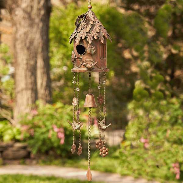 Antique Copper Birdhouse