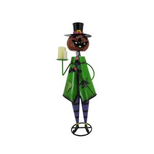 "Short Iron Halloween ""Pumpkin Man"" Figurine"
