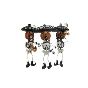 """Tres Marlonis"" Set of 3 Mariachi Skeletons"