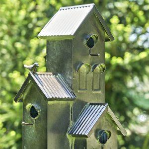 Tall Galvanized Condo Birdhouse Stake