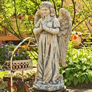 "36"" Tall Praying Magnesium Angel Statue ""Gabriella"""